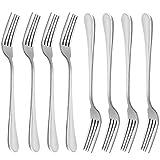 Dinner Forks, MCIRCO 18/10 Heavy-duty Stainless Steel Dinner Forks,Salad Forks Set of 8, 8 Inches