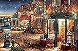 FFLFFL Rompecabezas de 2000 Piezas para Adultos Rompecabezas de Madera Rompecabezas clásico en 3D Noche Estrellada Café Colección Moderna Decoración del hogar