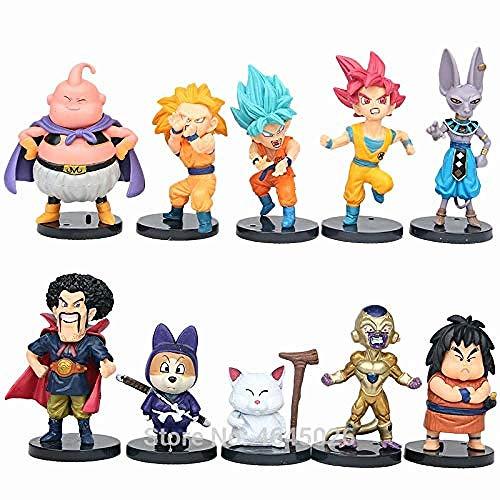 Dragon Ball Z Super Saiyan Goku Son Vegeta Gotenks Figuras Beerus Frieza Majin Buu Dragonball Figuras de Anime Juguete para niños para niños-Dragon Ball 4