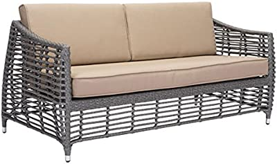 Zuo Gray & Beige Trek Beach Sofa