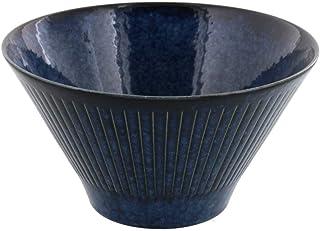 テーブルウェアイースト 和食器 台形マルチボウル(M) 彫十草 丼 ボウル カフェ食器 (深海)