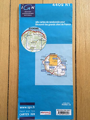 La Réunion ( Südost) topographische Wanderkarte, 4406 RT Piton de la Fournaise, St-Joseph, St-Philippe, Cratère Dolomieu, Plaine des Sables, Monte Langevin, GR-R2, IGN Landkarte 1:25.000, Top 25, IGN ( Institut Géographique National)