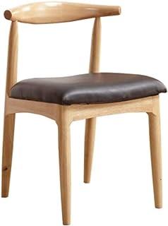 LiChaoWen Sillas de Comedor de Cocina Comer Claxon Silla Respaldo For La Sala De Estar Y Comedor (Color : Wood Color, Size : 47x50.5x77.5cm)