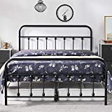 Yaheetech Classic Metal Platform Bed Frame Mattress Foundation with Victorian Style Iron-Art Headboard/Footboard/Under Bed Storage No Box Spring Needed for Boys Girls Full Size