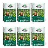 Organic India Tulsi Original Herbal Tea - Stress Relieving & Energizing, Immune Support, Adaptogen, Vegan, Gluten-Free, USDA Certified Organic, Non-GMO, Caffeine-Free - 18 Infusion Bags, 6 Pack