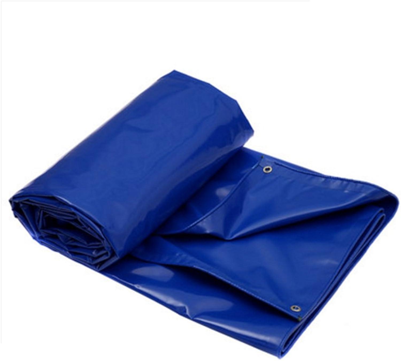 DNSJB Plane, Gepolstert PVC Regen Tuch, Sonnenblende, Winddicht, durch Den Hafen abgedeckt, Eine Vielzahl von Gren zur Auswahl, Hochwertige Plane (Farbe   Blau, Gre   4  3m)