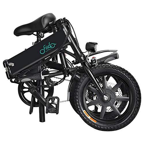 GoZheec FIIDO D1 Vélo électrique,Pliable Ebike avec 10.4Ah Li-ION Batterie 250W, Trois Modes de Fonctionnement, 14 Pouces avec lumière LED Avant pour Adulte (Blanc)