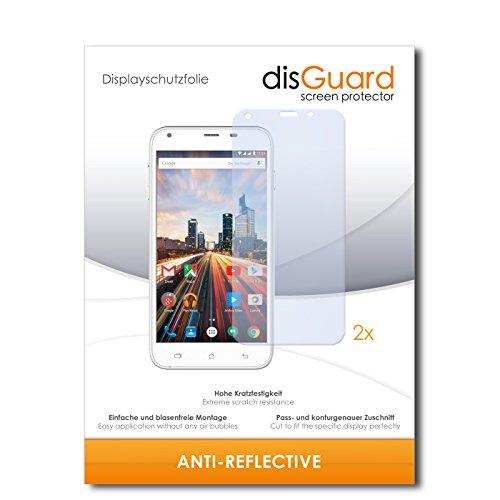disGuard® Bildschirmschutzfolie [Anti-Reflex] kompatibel mit Archos 55 Helium+ [2 Stück] Entspiegelnd, Matt, Antireflektierend, Extrem Kratzfest, Anti-Fingerabdruck - Panzerglas Folie, Schutzfolie