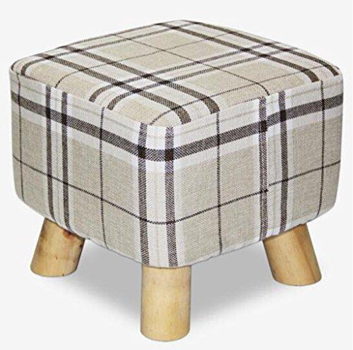 Tabouret en bois Chaise quatre pieds tabouret bois massif tabouret petit tabouret chaussures tabouret tissu amovible lavable canapé tabouret (Couleur : #2)