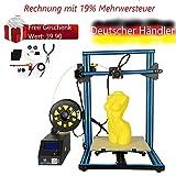 Creality 3D CR-10S DIY 3D Drucker Satz 300 * 300 * 400mm Druckgröße mit Z-Achse Dual T Schraubstange Motor Filament Detektor 1.75mm 0.4mm Düse CR-10S DIY 3D Printer Kit 300*300*400mm Printing Size Wi