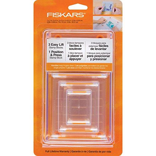 Fiskars 106150-1001 Clear Stamp Block Set (4 Piece)