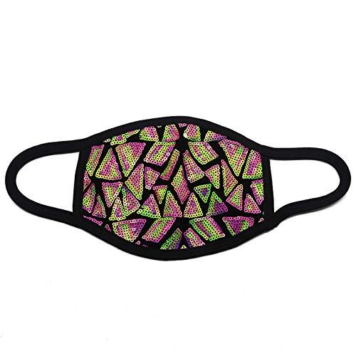 N / A Persönliche Baumwollmasken mit Pailletten, modische Staubschutz, Sonnenschutz und Antibeschlagmasken sowie waschbare Filtermasken
