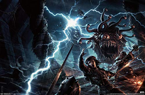 Trends International Dungeons and Dragons - Battle Wall Poster, 22.375' x 34', Premium Unframed Version