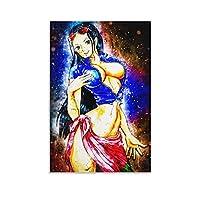 ワンピースニコロビンアニメポスターキャンバスアールデコ絵画寝室装飾絵画リビングルーム壁画壁アート画像16×24インチ(40×60cm)