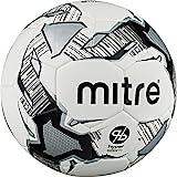 Mitre Balón de fútbol Hyperseam Calcio - Blanco/Negro/Plateado, Talla 3