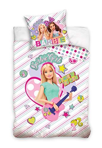 Carbotex Juego de cama Barbie funda nórdica 100% algodón