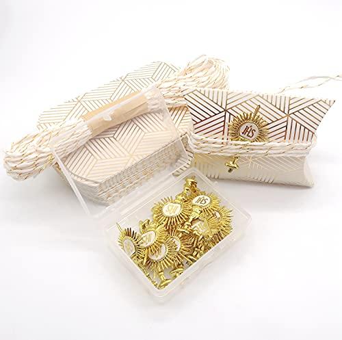MKISHINE 22 cajitas para peladillas fáciles de montar, ideales para comuniones, bautizos, nacimientos, confirmaciones, cumpleaños, bodas