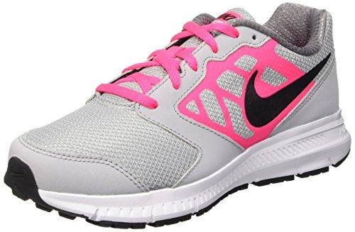 Nike Downshifter 6 (GS/PS), Scarpe da Corsa Bambina, Multicolore (Wolf Grey/Black-Hyper Pink-Wht),...