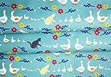 Sark Stoff Enten in einer Reihe Blau – SARK03 – 0,5