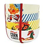 Kelloggs Large Cereal Bowl Set - Set of 4 Big Novelty Cereal Bowls - Perfect for Kids & Adults Alike