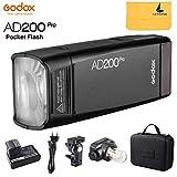 Godox AD200Pro AD200 Pro Pocket Flash TTL 200Ws 2.4G HSS 1 / 8000s Flash Stroboscopico Dop...