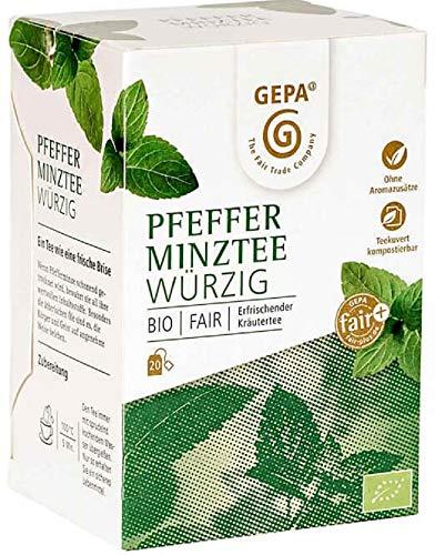 Gepa Bio Pfefferminztee - 100 Teebeutel - 5 Pack ( 20 x 1,7g pro Pack)