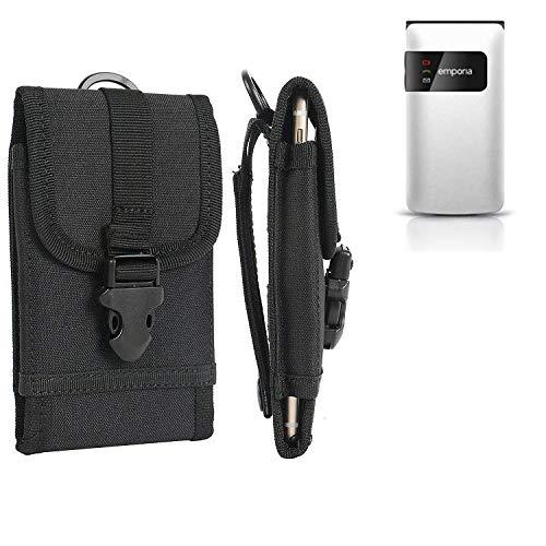 K-S-Trade® Handyhülle Für Emporia FLIP Basic Gürteltasche Handytasche Gürtel Tasche Schutzhülle Robuste Handy Schutz Hülle Tasche Outdoor Schwarz