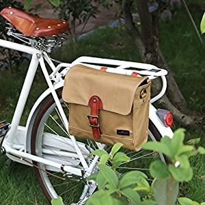 Tourbon Bolso de bicicleta para ciclistas Bolsa de bicicleta Alforjas de bicicleta Almacenamiento de mensajero de hombro