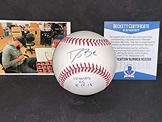 David Bote Chicago Cubs Autographed Signed Official Major League Baseball BECKETT WITNESS COA ULTIMATE GRAND SLAM 8-12-18