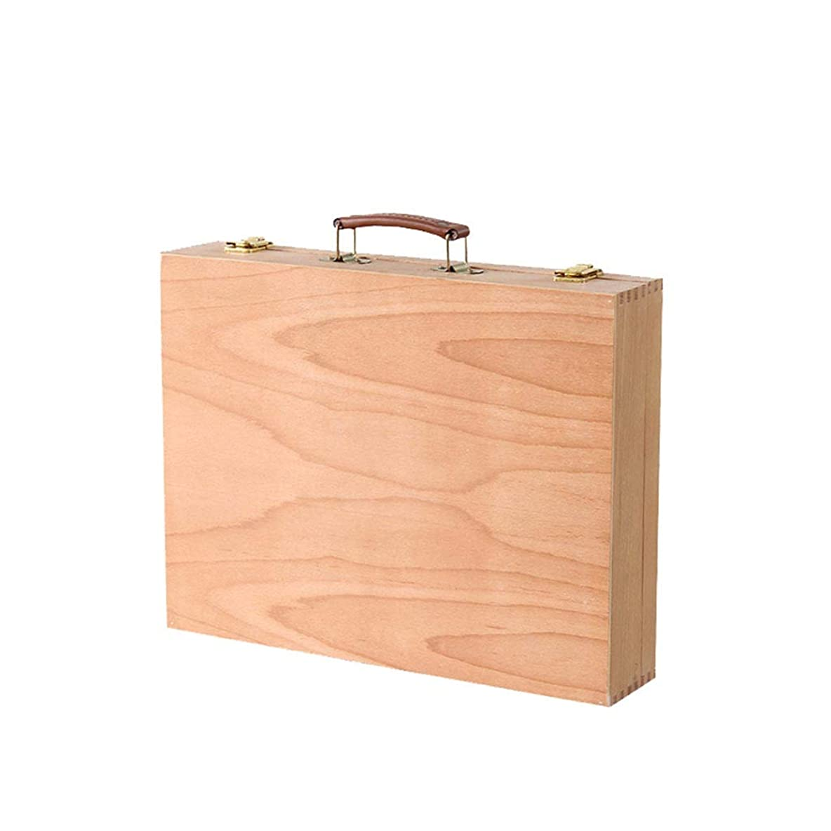 肺テレビ牛肉ブナポータブル塗装ボックス、アートピクチャーボックス収納ボックス、デスクトップ大容量ポータブル学生ログカラーペイントボックス