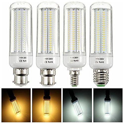1 pcs NEUF complète lampe LED E27 E14 B22 16 W 200 LED SMD 2835 1200LM Maïs Ampoule AC 110–265 V Lustre LED Candle Light spot, blanc, E27