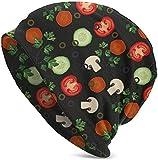 JJsister Wintermtze,Strickmtze,Beanie Mtze Vegetable Mix Slice Salad Beanie Hat Hipster Warm Hat Stretch Casual Headwear