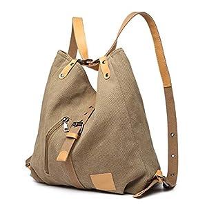 Kono Mochila de bandolera, bolsos de lona versátiles y multifuncionales para las mujeres niñas, elegantes bolsos… | DeHippies.com