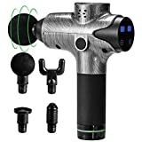 Massage Gun 20 Speed Level Deep Tissue Percussion for Deep Relaxation, Cordless Handheld Electric Body Massage Device for Neck, Back, Muscle & 5 Heads Included Massage Drill by Expansion-Wellness