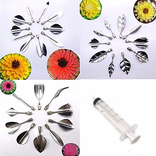 30 PCS/SET Flowers Leaves 3D Jelly Art Tools Cake Jello art Gelatin Tools pudding nozzle