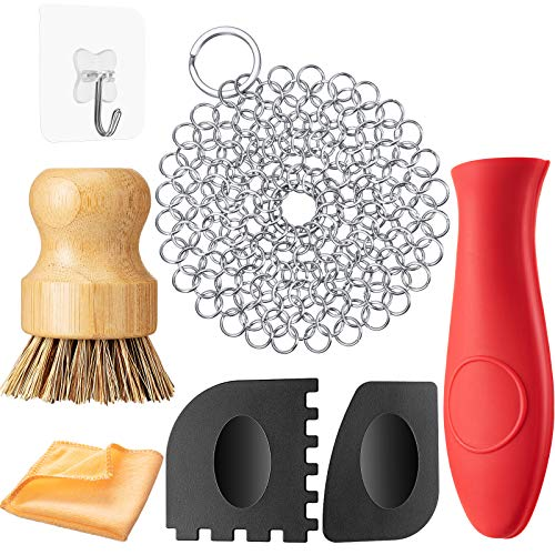 7 Pieces Cast Iron Cleaner