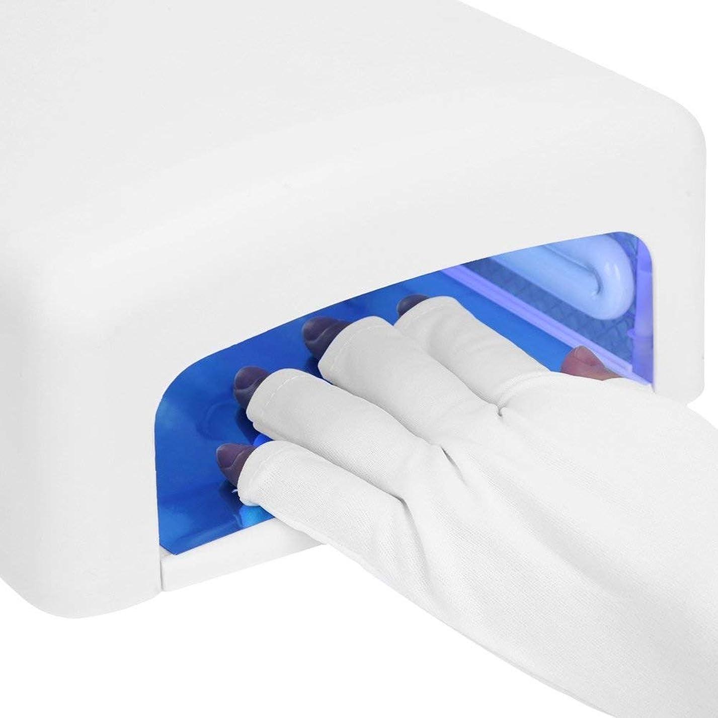 配管ハンバーガー芽UV シールド手袋、ジェル ? ポリッシュの紫外線保護手袋、ゲル爪紫外線乾燥硬化ランプ UV 爪ランプ