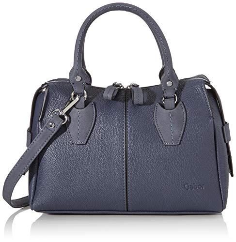 Gabor Handtasche Damen, Blau, Riva, 30x11x21 cm, Bowlingtasche