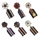 B Baosity 6pcs Broche Accessoires pour Homme Militaire en Alliage Uniforme Médaille en...