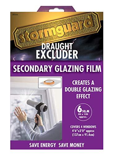 Stormguard 11SR0666SQM 6Sq m Secondary Glazing Window Insulation Fil