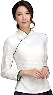 Chinese Shirt Long Sleeve Tang Qipao Top Blouse