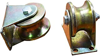 2pcs U-Groove Wheel Sliding Gate Track Roller W/Bracket Heavy Duty Barn Door Casters Steel Slide Gate Hardware for Gate Frame Industrial Machines Carts 2 Inches (2#)