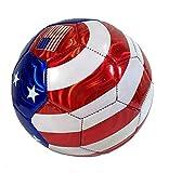 USA Flag Soccer Ball Summer Outdoor Sport Soccer Fan World Cup Football Size 5