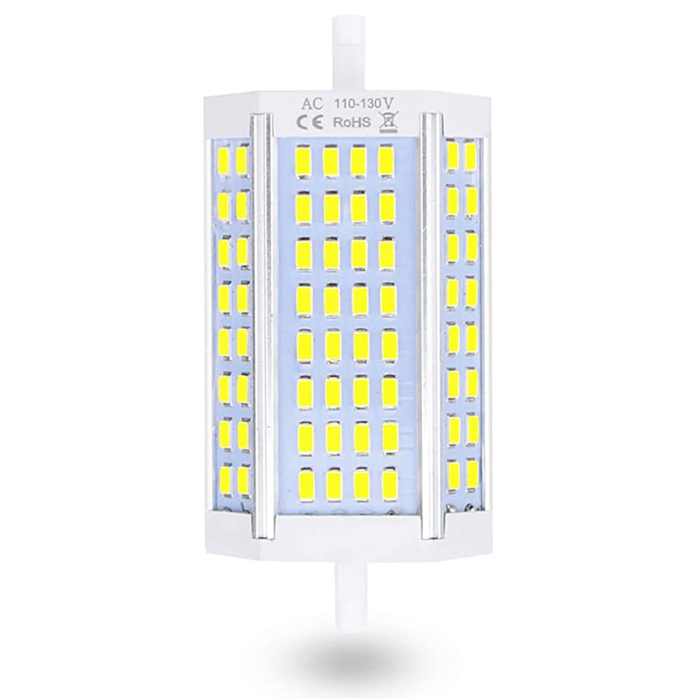 30W Dimmable R7S J Type Double Ended 118mm LED Bulbs, Lustaled 120V R7S Base J118 LED Floodlight 200W Halogen Replacement for Floor Lamps Security General Lighting (Warm White 3000K)
