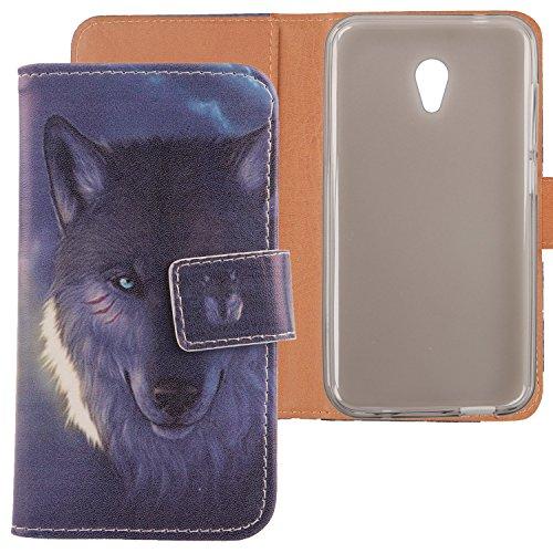 Lankashi PU Flip Leder Tasche Hülle Hülle Cover Schutz Handy Etui Skin Für Alcatel U5 3G 4047D 4047F 5