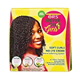 ORS Olive Oil Girls Soft Curls No-Lye Creme Texture Softening System Kit (Pack of 1)