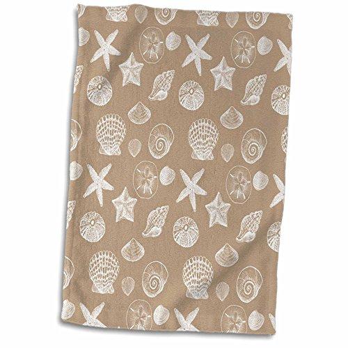 3D Rose Creamy Sand and White Beach Sea Shells TWL_213051_1 Towel, 15' x 22'