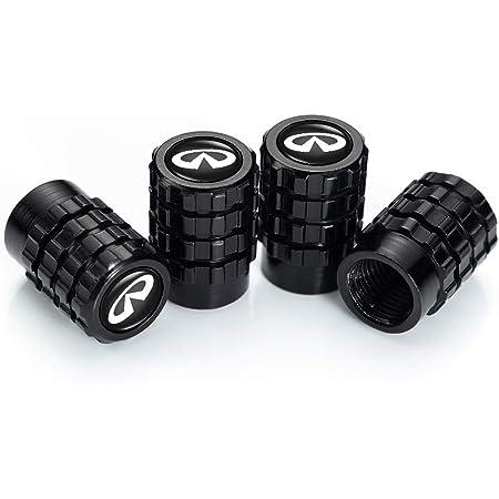 OBA PINGIGN 4 Pcs Metal Car Wheel Tire Valve Stem Caps for Infiniti Q50 FX35 FX37 F50 QX70 QX60 EX35 Lasered Logo Styling Decoration Accessories.