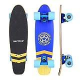 Baytter 22 Zoll Skateboard Komplett Board Mini-Cruiser aus 7-lagigem Ahornholz 57 x 15cm für Kinder, Jugendliche und Erwachsene