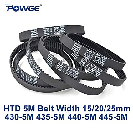 Width: 15mm Fevas 10pcs//Lot HTD5M Timing Belt 405-5M-15 Teeth 81 Length 405mm Width 15mm Rubber Closed-Loop 5M405